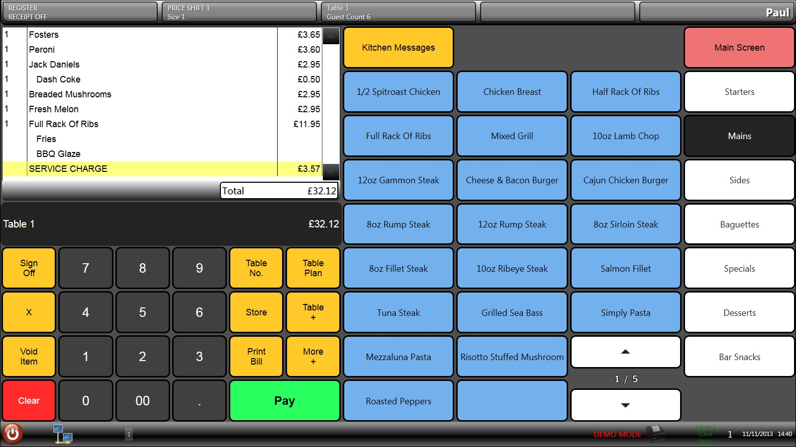 Advance Cash Register Limited Hospitality Epos System